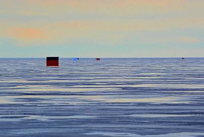 Digital Art - Five Ice Huts Two  by Lyle Crump
