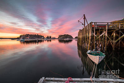 Mid-coast Maine Photograph - Five Islands Sunrise Reflections by Benjamin Williamson