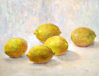 Five Lemons Art Print