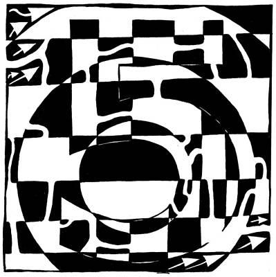 Learn To A Maze Drawing - Five Maze by Yonatan Frimer Maze Artist