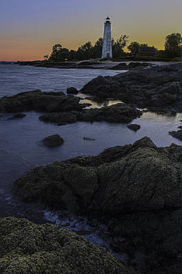 Photograph - Five Mile Point Lighthouse - New Haven by Expressive Landscapes Fine Art Photography by Thom