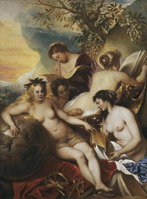 Five Muses On Mount Parnassus Art Print