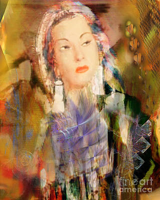 Digital Art - Five Octaves - Tribute To Yma Sumac by John Beck