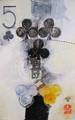 Five Of Clubs 18-52 Art Print