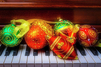 Photograph - Five Ornaments by Garry Gay