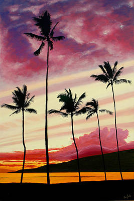 Painting - Five Palms Maui Hawaii by Pierre Leclerc Photography