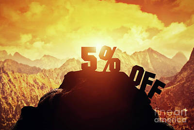 Photograph - Five Percent Off Writing On A Mountain Peak. by Michal Bednarek
