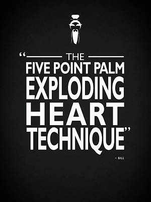 Five Point Palm Exploding Heart Technique Art Print