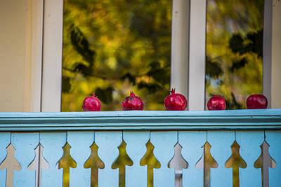 Tbilisi Photograph - Five Pomegranates by John Grummitt
