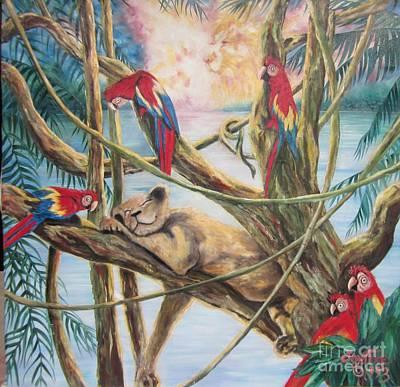Painting - Blaa Kattproduksjoner           Lioness Dreamer by Sigrid Tune