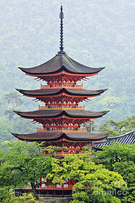 Miyajima Photograph - Five-storied Pagoda by Jeremy Woodhouse