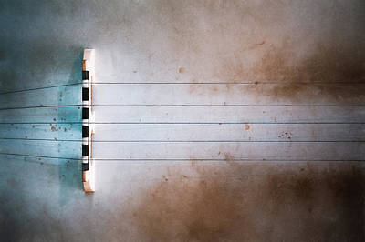 Abstract Airplane Art - Five String Banjo by Scott Norris