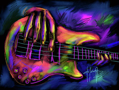 Painting - Five String Bass by DC Langer