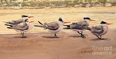 Painting - Five Terns by Julianne Felton