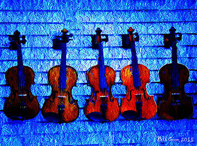 Five Violins Print by Bill Cannon