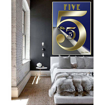 Digital Art - Five Wall Hanging by Chuck Staley