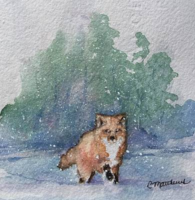 Painting - Fox In Snow by Rebecca Matthews