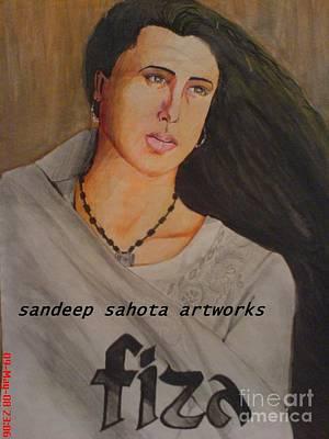 Intezaar Painting - Fiza by Sandeep Kumar Sahota