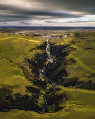 Iceland Wall Art - Photograph - Fjadrargljufur by Tor-Ivar Naess
