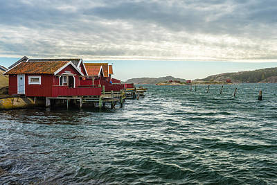 Photograph - Fjallbacka Huts by James Billings