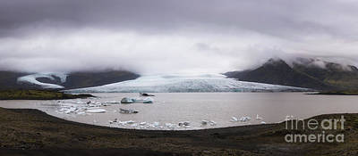 Photograph - Fjallsarlon Lagoon Panorama  by Michael Ver Sprill
