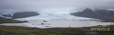 Photograph - Fjallsarlon Panorama  by Michael Ver Sprill