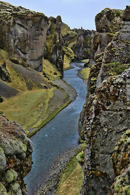 Photograph - Fjaorargljufur Canyon # 2 by Allen Beatty