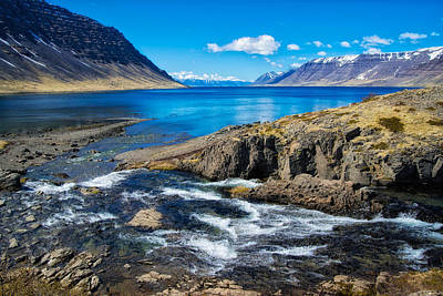 Photograph - Fjord In Iceland by Matthias Hauser