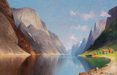 Painting - Fjord Landscape by Mountain Dreams