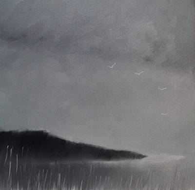 Painting - Fjord Landscape by Tone Aanderaa
