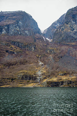 Photograph - Fjord Waterfall by Suzanne Luft