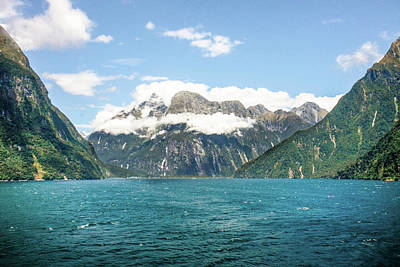 Photograph - Fjords, Milford Sound by Mark Coran
