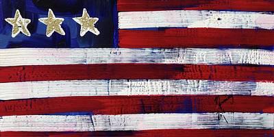 Painting - American Flag Fl-08-fc-16 by Richard Sean Manning