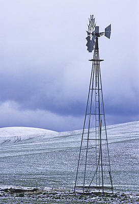 Photograph - Flack Windmill In Winter by Doug Davidson
