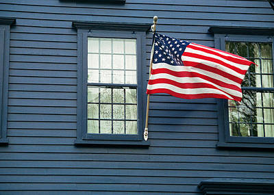 Photograph - Flag And Lace by Kenneth Campbell