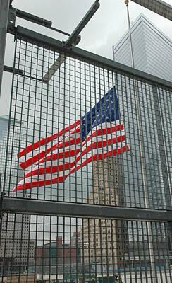 Flag At Ground Zero Art Print by Frank Mari