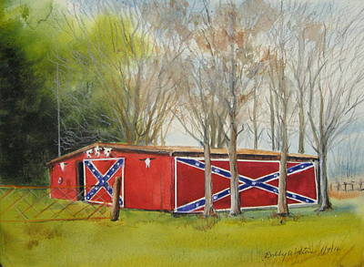 Painting - Flag Barn by Bobby Walters