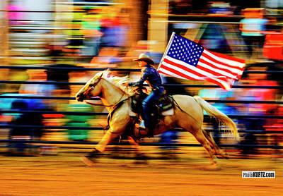Photograph - Flag Blur by Jeff Kurtz