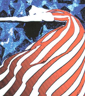 Flag Dancer Art Print by Linda Crockett