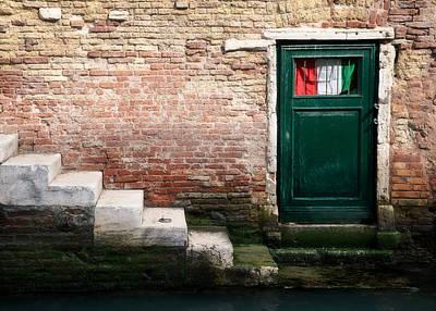 Rustic Doors Wall Art - Photograph - Flag by Dave Bowman