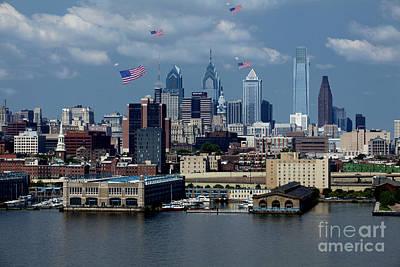 Vintage Movie Stars - Flag Day - Philadelphia by Anthony Totah