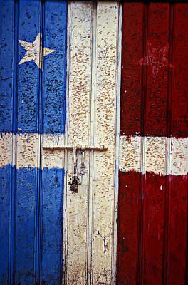 Puerto Rico Photograph - Flag Door by Garry Gay
