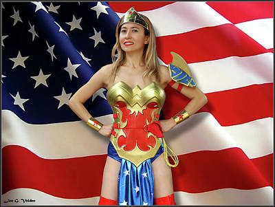 Photograph - Flag Heroine by Jon Volden