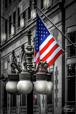 Photograph - Flag In Chicago by Francisco Gomez