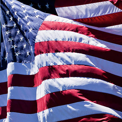 Photograph - Flag In The Wind by David Patterson