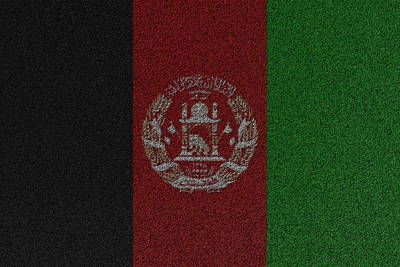 Wild And Wacky Portraits Rights Managed Images - Flag of Afghanistan Royalty-Free Image by Jeff Iverson