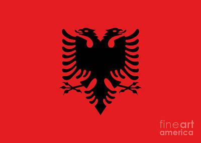 Digital Art - Flag Of Albania Authentic Version by Bruce Stanfield