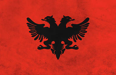 Mixed Media - Flag Of Albania by Dan Sproul