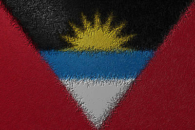 Digital Art - Flag Of Antigua And Barbuda by Jeff Iverson