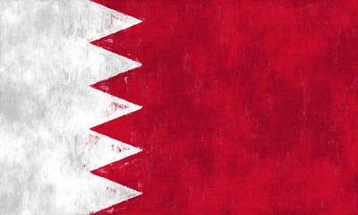Flag Of Bahrain Art Print by World Art Prints And Designs